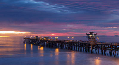Winter Sunset San Clemente Art Print by Cliff Wassmann