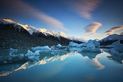 New Zealand Photograph - Winter Symmetry by Yan Zhang