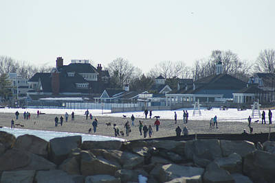 Photograph - Winter Thaw At The Beach by Margie Avellino