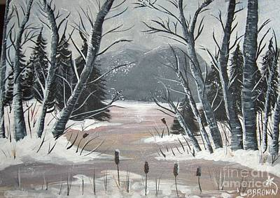 Painting - Winter Thaw by Brenda Brown