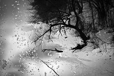 Snow Photograph - Winter Through My Window by Bob Orsillo