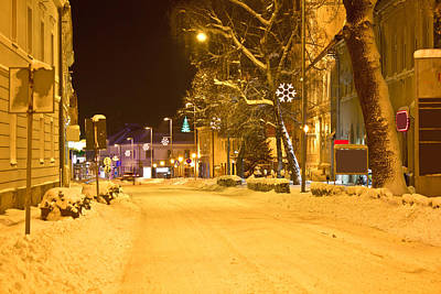 Photograph - Winter Time Street Scene In Krizevci by Brch Photography