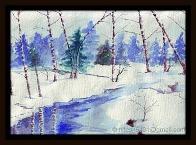 Etc. Painting - Winter Touch by Nitesh Kumar