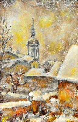 Painting - Winter Town by Jiri Capek