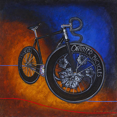 Painting - Winter Track Bicycle by Mark Howard Jones