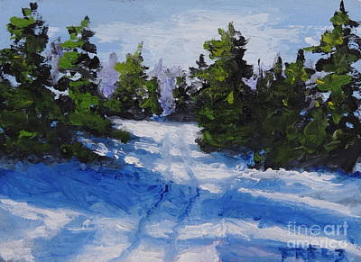 Painting - Winter Tracks by Fred Wilson