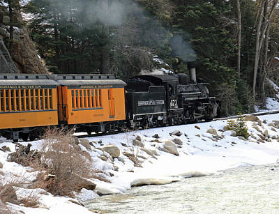 Photograph - Winter Train Ride by Mary Haber