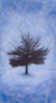 Winter Tree Art Print by Emmanouil Klimis