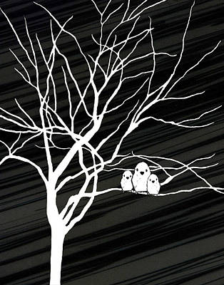 Natasha Drawing - Winter Tree by Natasha Marco