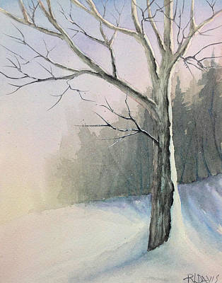 Art Print featuring the painting Winter Tree by Rebecca Davis