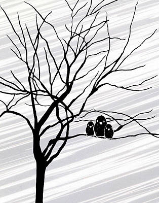 Natasha Drawing - Winter Tree White by Natasha Marco