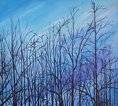 Winter Trees Against A Blue Sky Art Print