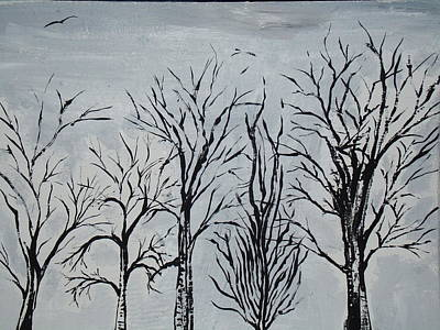 Painting - Winter Trees At Rest by Daniel Nadeau