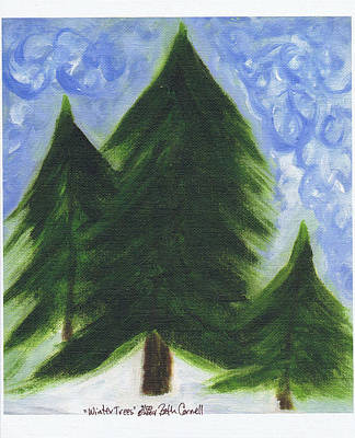 Painting - Winter Trees by Beth  Cornell