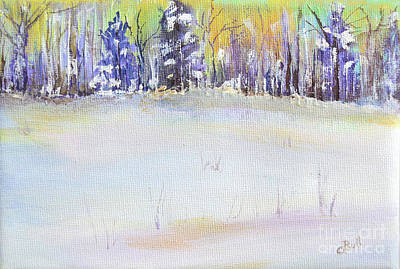 Original featuring the painting Winter Trees by Claire Bull