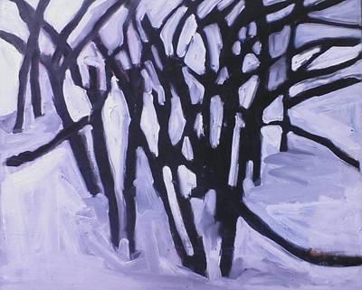 Wall Art - Painting - Winter Trees by Kerrie B Wrye