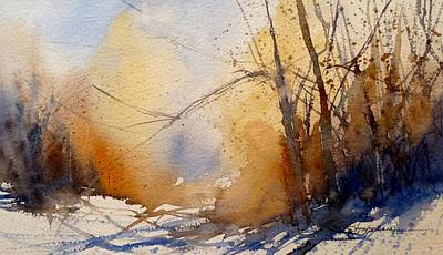 Painting - Winter Trees by Sandra Strohschein