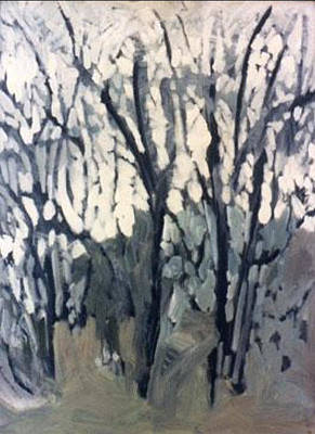 Wall Art - Painting - Winter Trees Study by Kerrie B Wrye