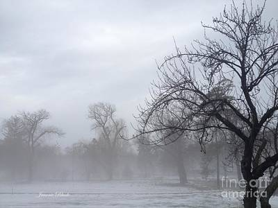 Art Print featuring the photograph Winter Trees With Mist by Jeannie Rhode