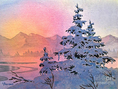 Winter Twilight Art Print by Teresa Ascone