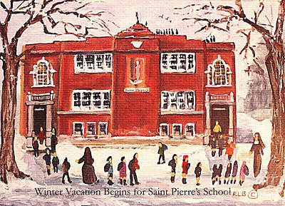Waltham Painting - Winter Vacation Begins For Saint Pierre's School by Rita Brown
