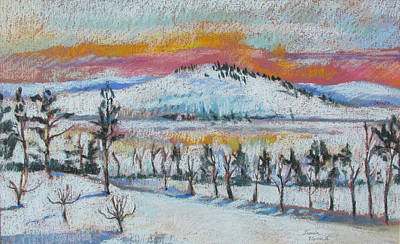 Painting - Winter View From Kripalu by Linda Novick