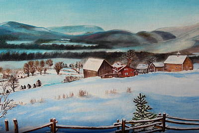 Painting - Winter Village by Christine McMillan