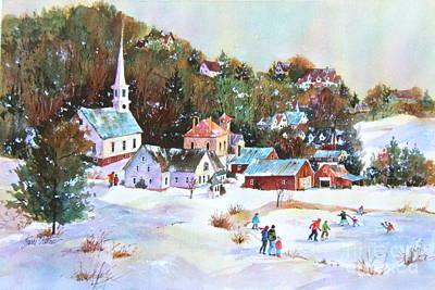 Winter Village Original by Sherri Crabtree