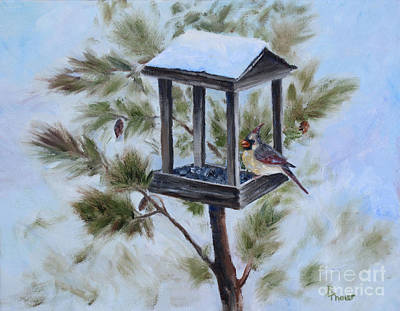 Painting - Winter Visitor by Brenda Thour