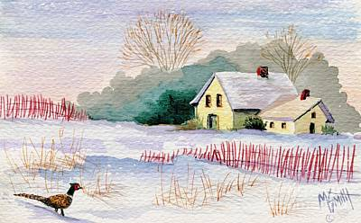 Winter Scenes Painting - Winter Visitor by Marilyn Smith