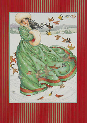 Winter Scene Painting - Winter Vogue by Lynn Bywaters