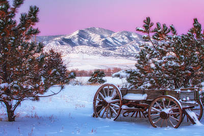 Winter Wagon Art Print by Darren  White