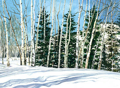 Painting - Winter Walk by Barbara Jewell
