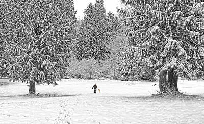 Photograph - Winter Walk In The Snow  by Jennie Marie Schell