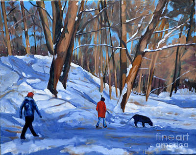 Painting - Winter Walk by Joan McGivney