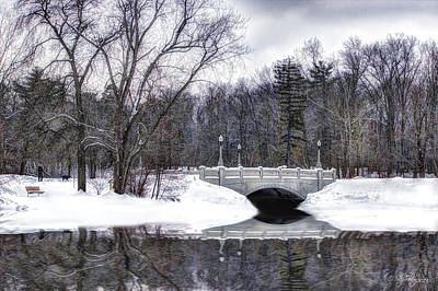 Art Print featuring the photograph Winter Walk by Skip Tribby