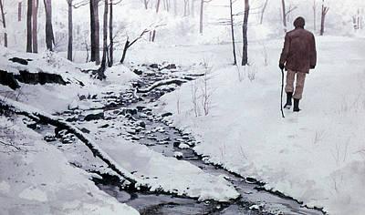 Painting - Winter Walk by Tom Wooldridge