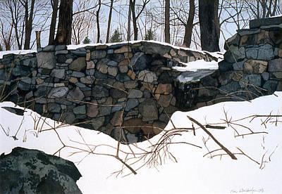 Painting - Winter Wall One by Tom Wooldridge