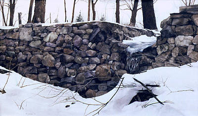 Painting - Winter Wall Two by Tom Wooldridge