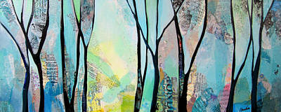 Running Painting - Winter Wanderings I by Shadia Derbyshire