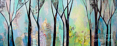 Winter Trees Painting - Winter Wanderings II by Shadia Derbyshire