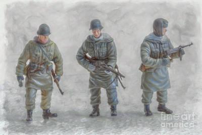 Youth Digital Art - Winter War Panzer Grenadiers by Randy Steele