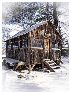 Winter Warming Hut Art Print by Edward Fielding