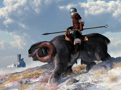 Knights Castle Digital Art - Winter Warrior by Daniel Eskridge