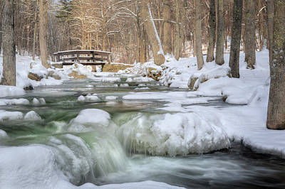 Snowy Brook Photograph - Winter Water by Bill Wakeley