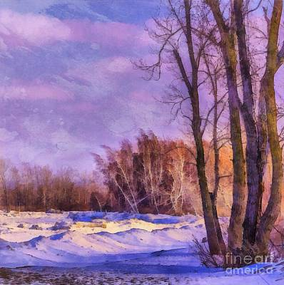 Digital Art - Winter Watercolor At Presque Isle 2015 by Kathryn Strick