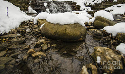 Photograph - Winter Waterfall After Saturn by Deborah Smolinske