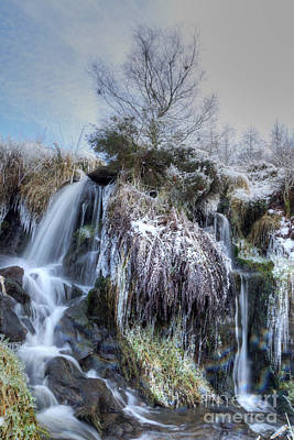 Photograph - Winter Waterfall 6 by David Birchall