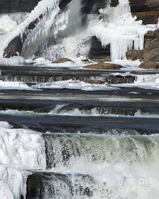 Photograph - Winter Waterfall by Kristen Fox