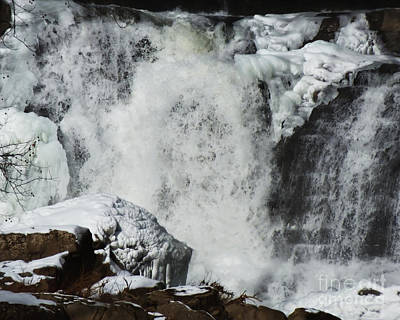 Photograph - Winter Waterfalls 2 by Kristen Fox